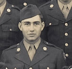 Sgt Wayne L. Luedke<br /> cropped from large Unit picture of the 549th AAA AW Bn - Btry C - 1943<br /> ( 2nd row from bottom  - # 9 from left)<br /> <br /> <br /> 549th AAA AW BN BTRY C<br /> 87th Infantry Division.<br /> Involved in the Battle Of The Bulge - WWII.