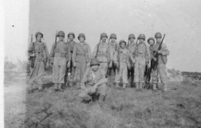 5th Gun Section - Cape Cod, MA - 1943<br /> <br /> 549th AAA AW BN BTRY C<br /> 87th Infantry Division.<br /> Involved in the Battle Of The Bulge - WWII.<br /> <br /> Photo credit - Mr. Wayne L. Luedke - 549th AAA AW BN Btry C.