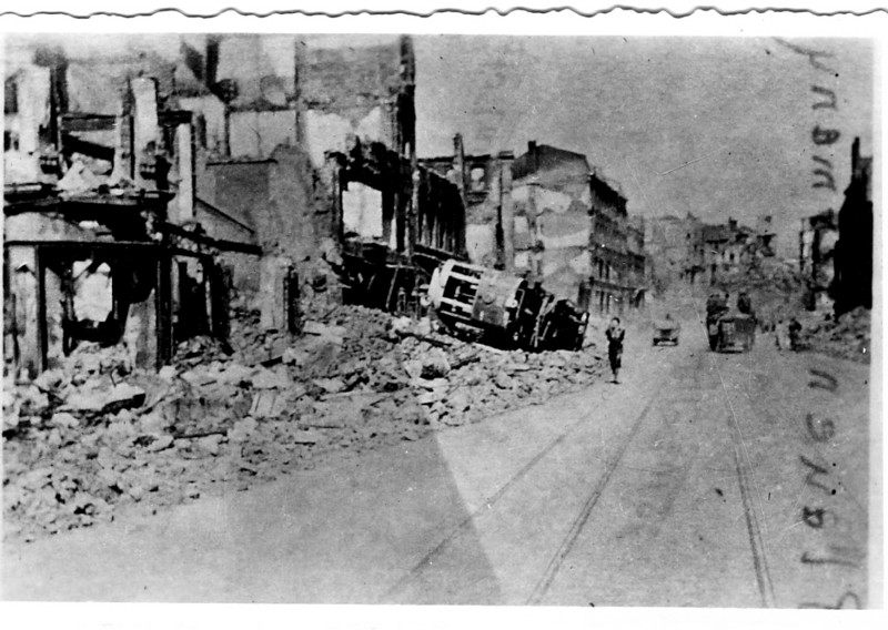 Town destroyed<br /> <br /> 549th AAA AW BN BTRY C<br /> 87th Infantry Division.<br /> Involved in the Battle Of The Bulge - WWII.<br /> <br /> photo credit - Mr. Wayne L. Luedke; 549th AAA AW BN Btry C