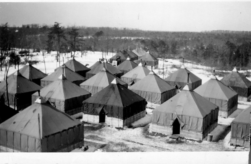 Tent City - old area -  2-29-1944<br /> <br /> 549th AAA AW BN BTRY C<br /> 87th Infantry Division.<br /> Involved in the Battle Of The Bulge - WWII.<br /> <br /> photo credit - Mr. Wayne L. Luedke; 549th AAA AW BN - Btry C