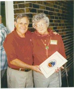 Joe & Mae Barvir; <br /> 87th Infantry Division Reunion; <br /> Oklahoma City, OK 1991