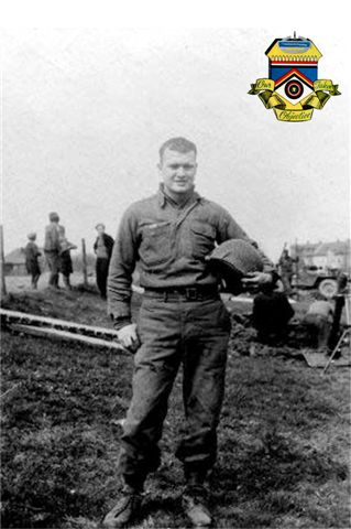 Pfc. John E. McAuliffe<br /> M-347<br /> 87th Infantry Division<br /> Somewhere in Germany, April 1945.