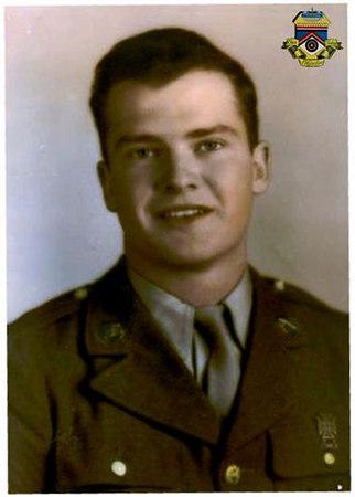 Pfc. John E. McAuliffe - 1944<br /> M-347<br /> 87th Infantry Division