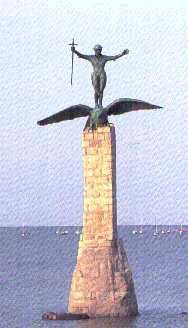 """St. Nazaire, France Memorial<br /> <br /> A.E.F. Memorial in St. Nazaire Harbor.<br /> With outstreached arms and a sword in his hand, <br /> a doughboy stands on the back of a giant eagle that has just landed.<br /> <br /> Dedicated to the US Army Expeditionary Forces <br /> of World War One, at St. Nazaire, France, <br /> their landing place April, 1917. <br /> <br /> It was designed by Gertrude Vanderbilt Whitney, Sculptress, <br /> with Studio in New York City. <br /> <br /> My father, Florence J. McAuliffe was a sculptor in her employ<br /> and worked on creating this monument. <br /> <br /> The monument was destroyed by the Nazis during their occupation of France in 1940.<br /> <br /> St. Nazaire became an important Nazi Submarine Base in WW-II....<br /> <br /> I retain to this day the cast iron eagle's claw which was used as a model for the monument.<br /> <br /> submitted by:<br /> John McAuliffe<br /> 87th Infantry Division<br /> M-347<br /> <br /> =====================<br /> <br /> Update - April -2007:<br /> After placing the picture of the St. Nazaire Monument in this gallery, <br /> Mr. John McAuliffe received word from his Belgian friend, <br /> Stevenot Gilbert, informing him that in fact, <br /> the monument was rebuilt ~1989!<br /> <br /> Mr. Gilbert also gives this interesting web site about the monument and additional pictures:<br /> <br />  <a href=""""http://www.linternaute.com/nantes/magazine/sorties/photo/saintnazaire/3.shtml"""">http://www.linternaute.com/nantes/magazine/sorties/photo/saintnazaire/3.shtml</a><br /> <br /> Update - Jan - 2009 from comments sent in:<br /> <br /> A British raid in which an explosives packed destroyer was rammed into the lock gates of the dry dock, killing 250 Germans and putting the lock out of action for the remaider of the war has been hailed as the greatest special forces raid of all time. <br /> More info can be found by doing Google search for HMS Campbelltown.<br /> <br />  <a href=""""http://en.wikipedia.org/wiki/"""