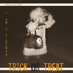103105 Trick or Treat bw single photo