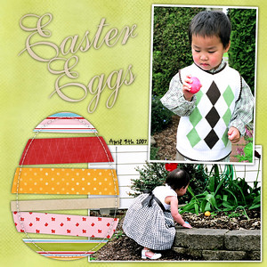 A couple of my favorite from the kids Easter Egg hunting... ************************ Template is from Yvette Sanders (free) (At Digi Chick Kit is Dani Mogstad & Huni Buni Spring Chick (date font is Highland Park)