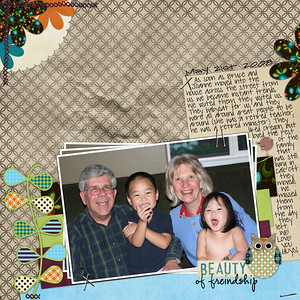 5-21-08 Great Neighbors the night before they moved back to California! bree clarkson collection 20,LO 97,mix it up  Libby weifenbach cherrekaye hootenanny  fonts:  CK Ali Edwards (of freindship) pea sdflenner (journaling)  Pea Jamie*B* Wake up fishy (date)