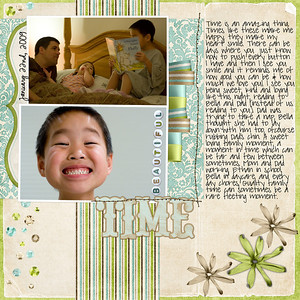 1-22-09 Time    Bree Clarkson Collection# 24, LO# 120    Zoe Pearn winter wishes, date font: CK Ali Edwards  journaling font: pea sdflenner