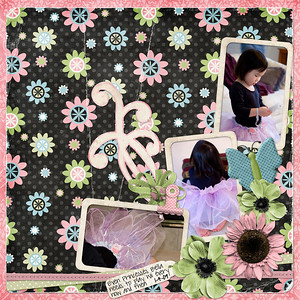 1-4-09  Princess Wii melissa bennett nicole 12x12 album quick page font: pea sdflenner Journaling reads: Even Princess Bella needs to play Wii every now and then!