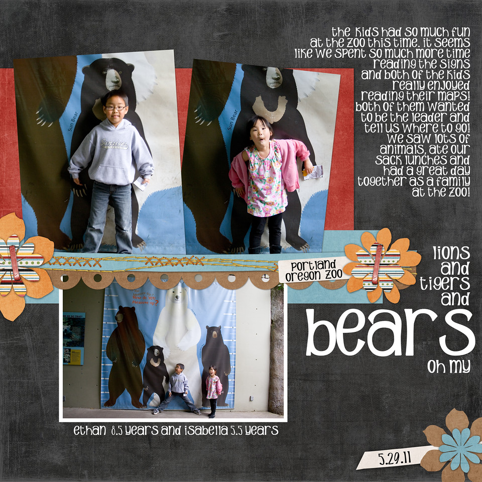 Lauries Scrap and Designs Going to the Zoo<br /> Lauries Scrap and Designs Free June Template Challenge Template