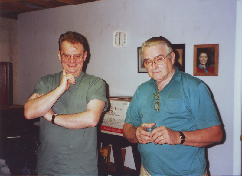 Leroy Lewis (left) & Ted Campbell December 21, 1995 at my parent's home in NJ.  Up from Florida, they came by for a visit.