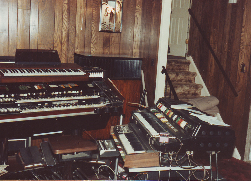Hammond X66 console with accessories added by Ted Campbell.  The music room in Leroy and Ted's home.  Ocean Acres, NJ on April 19, 1983.