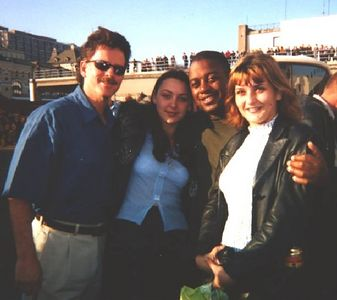 ship buddy Bryant along with locals in Vladivostok, Russia who were at the pier and wanted a photo with a couple of Americans.
