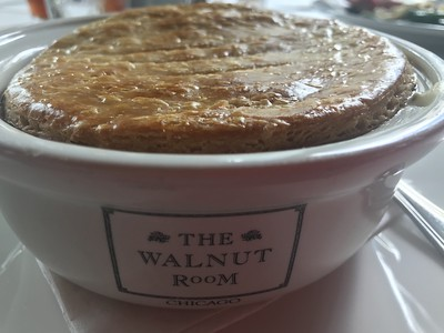 Famous chicken pot pie at  The Walnut Room