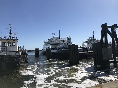 waiting for the Ocracoke Ferry