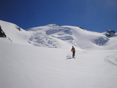 More fresh tracks down the glacier...
