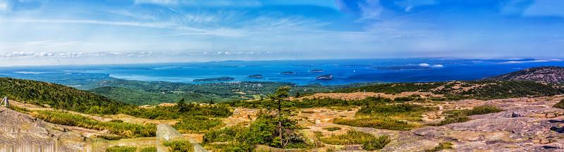 Bar Harbor; Cadillac Mountain; Maine; USA