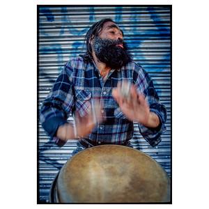 NYC Street Drummer_7705