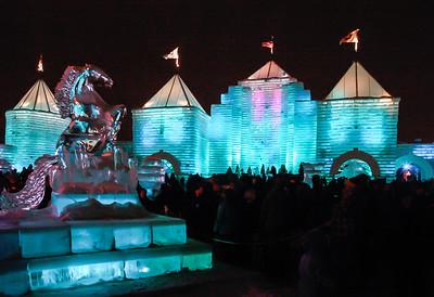Ice sculpture - Horse