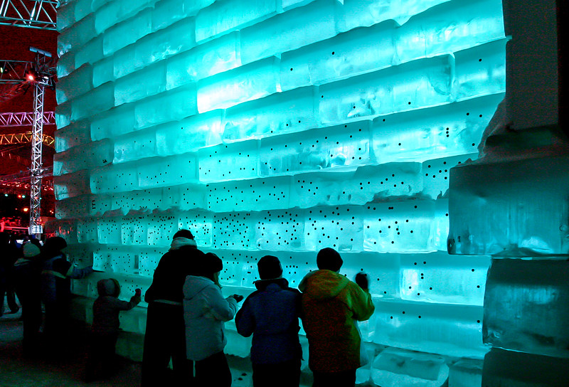 Kids would stick pennies to the ice - after the ice castle was closed, all the pennies were donated to charity