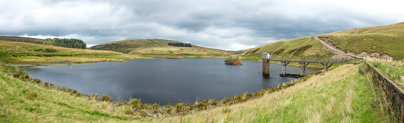 North Esk reservoir - panorama