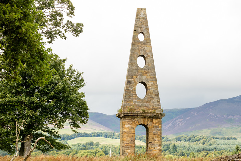 Ramsay Monument near Penicuik House - landscape