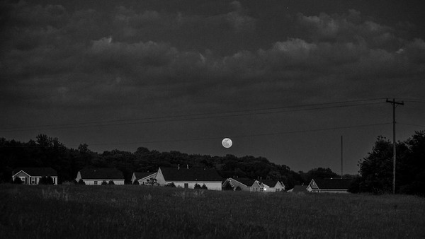 Moonrise, Bethania, North Carolina