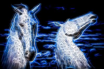 Falkirk Kelpies converted to fractal art