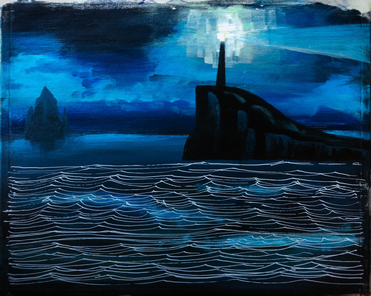 'Song of the Sea' painting, step 3