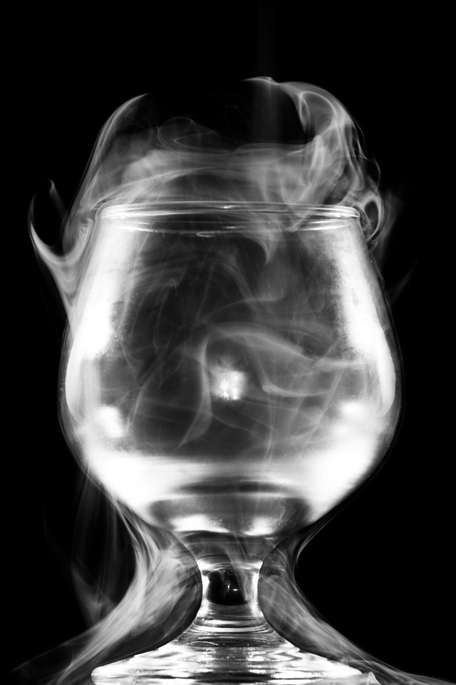 "Glass of Smoke<br /> A still life photo of smoke being poured into a wine glass.<br /> Purchase this photo at the top right by clicking ""buy"".<br /> 2x3 printing format<br /> 20""x30"" Max printing size.<br /> Displayed at 8""x12"""