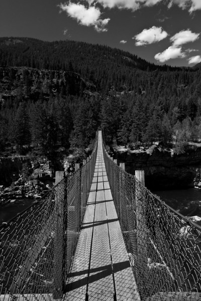 """Bridge to Begin<br /> A photo of an old bridge near Kootenai Falls, in Libby Montana. <br /> Purchase this photo at the top right by clicking """"buy"""".<br /> 2x3 printing format<br /> 20""""x30"""" Max printing size.<br /> Displayed at 8""""x12"""""""