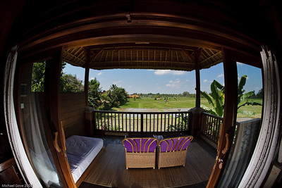 View from the Tegal Sari bungalows, Ubud, Bali