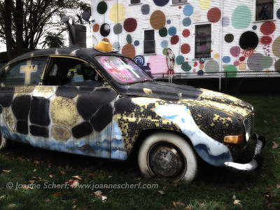 Polka Dot House & Penny Car