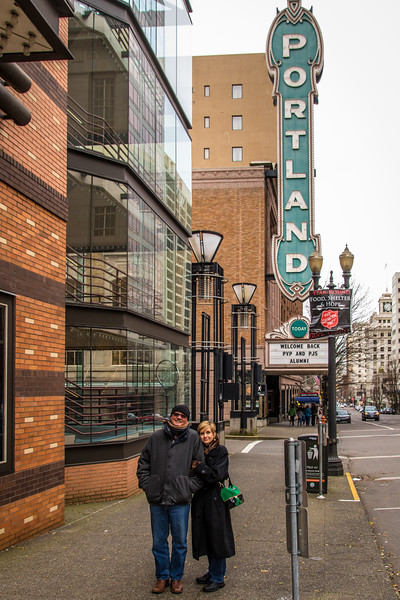 Bob and Dianne in the Portland theater district.