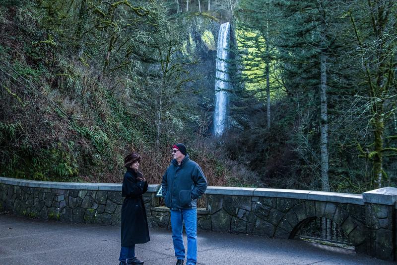 Diane and Bob at Latourell Falls