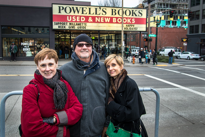 Carolyn, Bob, Dianne -- World Famous Powells Bookstore.