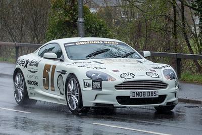 Gumball3000 drives through West Linton, Scottish Borders