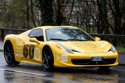 Gumball3000 drives through West Linton, Scottish Borders