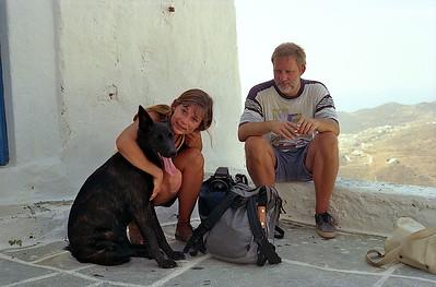 Serifos 1995. Vakantie met Rudi en Pempti.