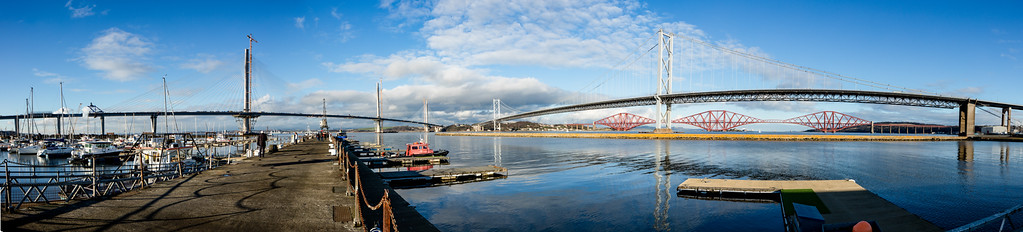 The three bridges across the Forth.