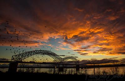 Bridge sunset 2