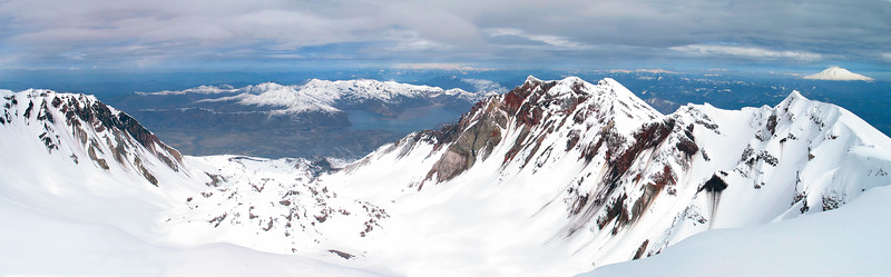 Mt. St. Helens, Summit Crater View, Spring 2003. Stitched from 7 pics.