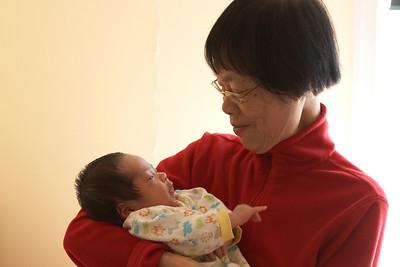 Nathan with Grandma.