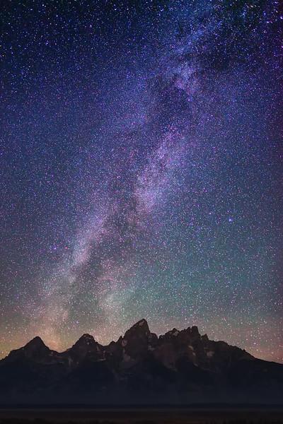 Stars over Grand Teton Range