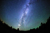 Starry night sky - stars in the Milky Way on a clear, bright night