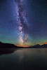 Milky Way over Grand Teton and Jackson Lake
