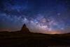 Milky Way over Agathla Peak
