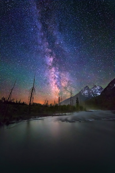Milky Way over Tetons and String Lake