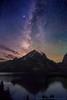 Milky Way Dawn over Jenny Lake
