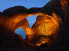 Double Arch - lighted night exposure - Arches National Park